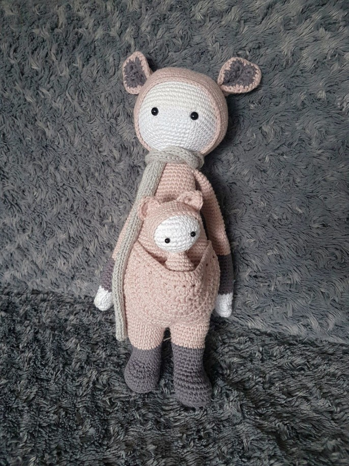 vieille morue lalylala kira kangourou kangaroo amigurumi crochet 3