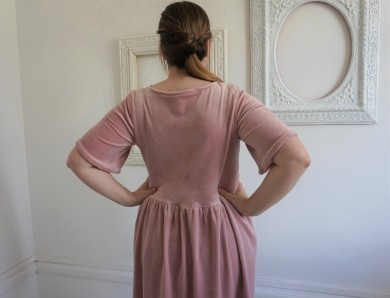 la maison victor magazine couture mai juin 2016 robe fran velour fronces vieille morue 10