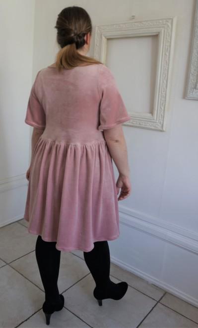 la maison victor magazine couture mai juin 2016 robe fran velour fronces vieille morue 11
