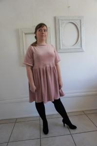 la maison victor magazine couture mai juin 2016 robe fran velour fronces vieille morue 15