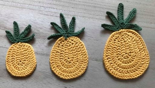 ananas pineapple coaster dessous de verre déco table crochet by hand london vieille morue 1