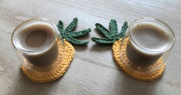 ananas pineapple coaster dessous de verre déco table crochet by hand london vieille morue 2