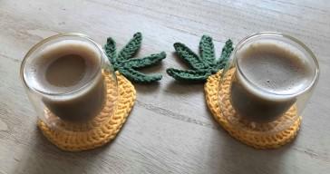 ananas pineapple coaster dessous de verre déco table crochet by hand london vieille morue 2