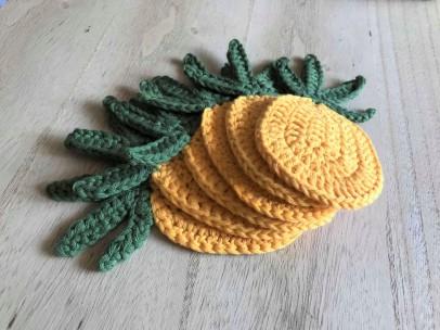 ananas pineapple coaster dessous de verre déco table crochet by hand london vieille morue 5