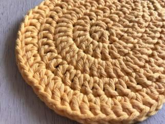 ananas pineapple coaster dessous de verre déco table crochet by hand london vieille morue grand 2