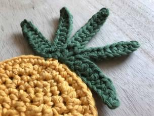 ananas pineapple coaster dessous de verre déco table crochet by hand london vieille morue grand 4