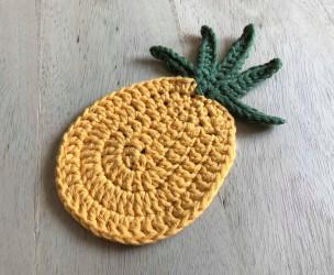ananas pineapple coaster dessous de verre déco table crochet by hand london vieille morue moyen