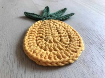 ananas pineapple coaster dessous de verre déco table crochet by hand london vieille morue petit 2