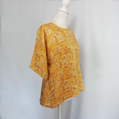 couturette blouse top combi assia dos noeud soie vieille morue 3