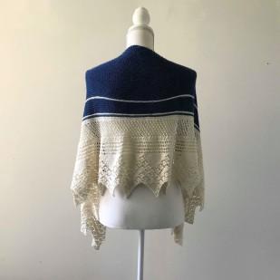 chale bord de mer petit bout de moi shawl vieille morue dentelle lace tricot knit drops alpaga 1
