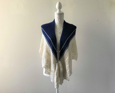 chale bord de mer petit bout de moi shawl vieille morue dentelle lace tricot knit drops alpaga 3
