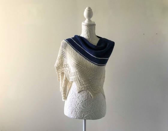 chale bord de mer petit bout de moi shawl vieille morue dentelle lace tricot knit drops alpaga 5