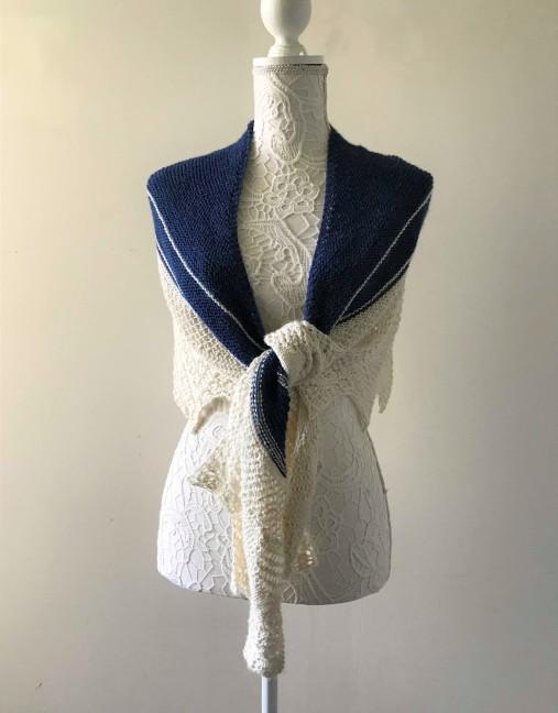 chale bord de mer petit bout de moi shawl vieille morue dentelle lace tricot knit drops alpaga 6