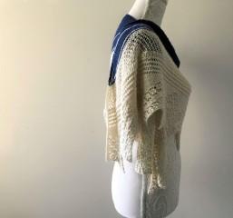 chale bord de mer petit bout de moi shawl vieille morue dentelle lace tricot knit drops alpaga 7
