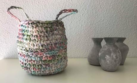 fée du tricot crochet panière thaïlandaise creative paper rico design fil papier vieille morue 1