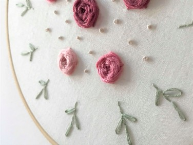 vieille morue maille name is broderie fleur embroidery flower diy déco 3
