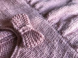 bergère de france layette calinou robe fronces noeud pression fille vieille morue 12