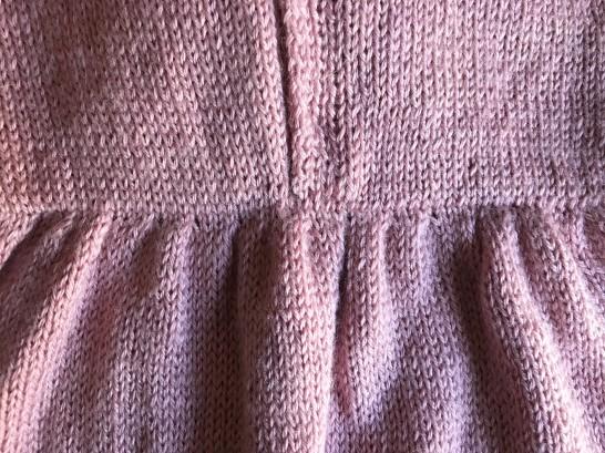 bergère de france layette calinou robe fronces noeud pression fille vieille morue 13