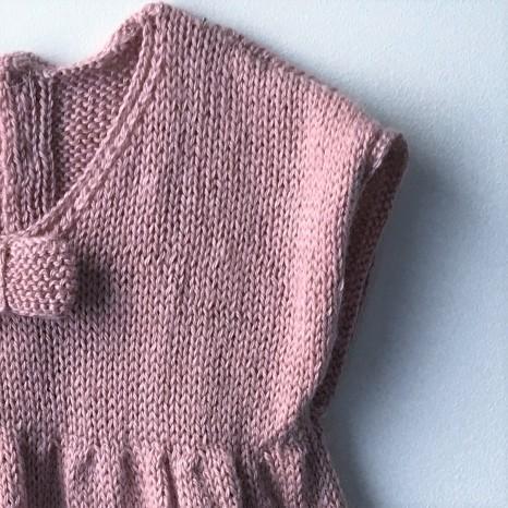 bergère de france layette calinou robe fronces noeud pression fille vieille morue 8