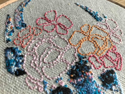 stephchard florence the deer embroidery cross stitch cerf renne point de croix broderie tambour broder déco diy vieille morue 3