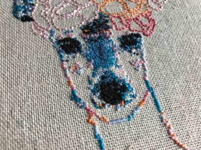 stephchard florence the deer embroidery cross stitch cerf renne point de croix broderie tambour broder déco diy vieille morue 4