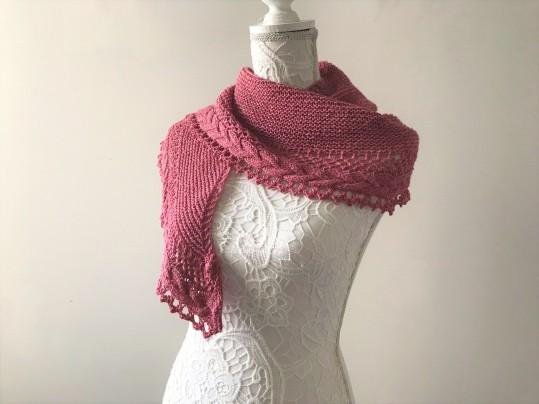 mademoiselle c châle shawl french cancan tricot knit dentelle lace torsade shawlet bc garn laine yarn bio balance vieille morue 10