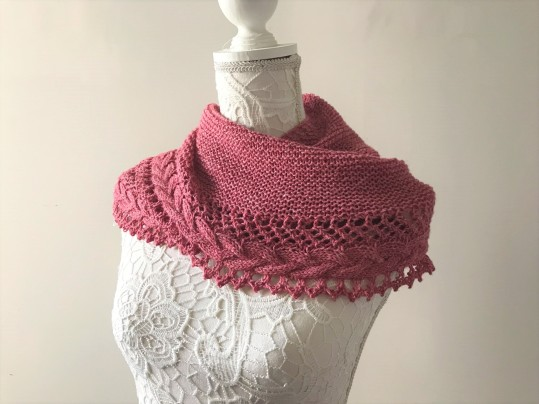 mademoiselle c châle shawl french cancan tricot knit dentelle lace torsade shawlet bc garn laine yarn bio balance vieille morue 11
