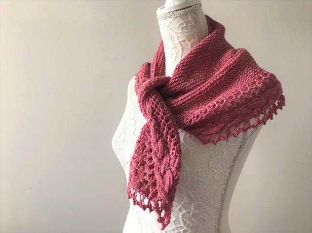 mademoiselle c châle shawl french cancan tricot knit dentelle lace torsade shawlet bc garn laine yarn bio balance vieille morue 12