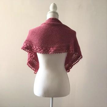 mademoiselle c châle shawl french cancan tricot knit dentelle lace torsade shawlet bc garn laine yarn bio balance vieille morue 3
