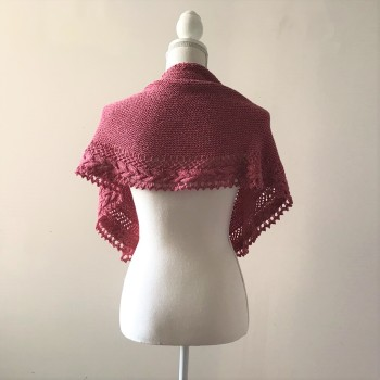 mademoiselle c châle shawl french cancan tricot knit dentelle lace torsade shawlet bc garn laine yarn bio balance vieille morue 3