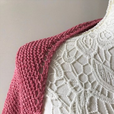 mademoiselle c châle shawl french cancan tricot knit dentelle lace torsade shawlet bc garn laine yarn bio balance vieille morue 4