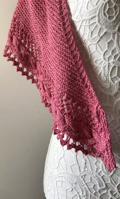 mademoiselle c châle shawl french cancan tricot knit dentelle lace torsade shawlet bc garn laine yarn bio balance vieille morue 5
