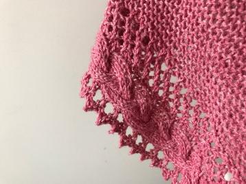 mademoiselle c châle shawl french cancan tricot knit dentelle lace torsade shawlet bc garn laine yarn bio balance vieille morue 6