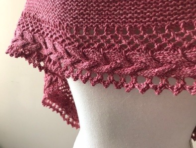 mademoiselle c châle shawl french cancan tricot knit dentelle lace torsade shawlet bc garn laine yarn bio balance vieille morue 7