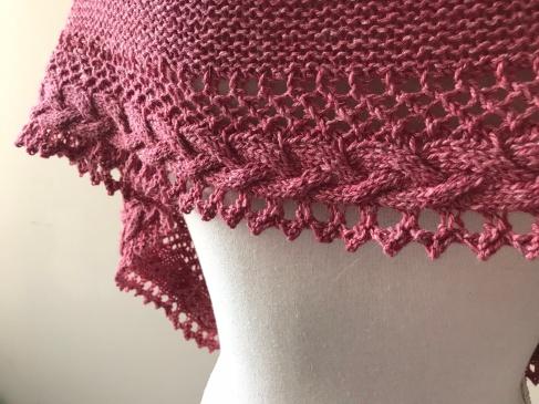 mademoiselle c châle shawl french cancan tricot knit dentelle lace torsade shawlet bc garn laine yarn bio balance vieille morue 7