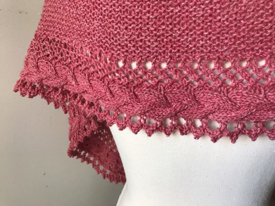 mademoiselle c châle shawl french cancan tricot knit dentelle lace torsade shawlet bc garn laine yarn bio balance vieille morue 9