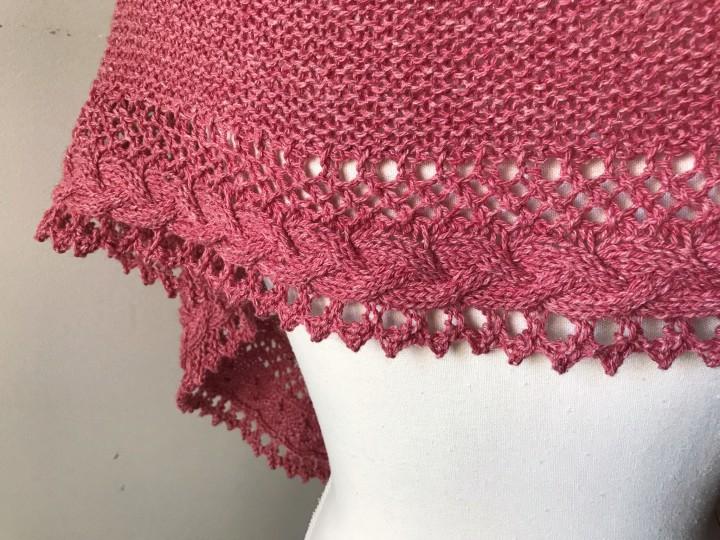 mademoiselle c châle shawl french cancan tricot knit dentelle lace torsade shawlet bc garn laine yarn bio balance vieille morue 9