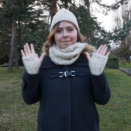 chouette kit crochet ensemble bonnet mitaines snood point de vannerie scott calendrier avent cotton merino concept katia vieille morue 7