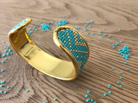 bracelet manchette tissage miyuki metier tisser perles sun enterprises la droguerie perlesandco vieille morue 4