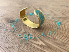 bracelet manchette tissage miyuki metier tisser perles sun enterprises la droguerie perlesandco vieille morue 5
