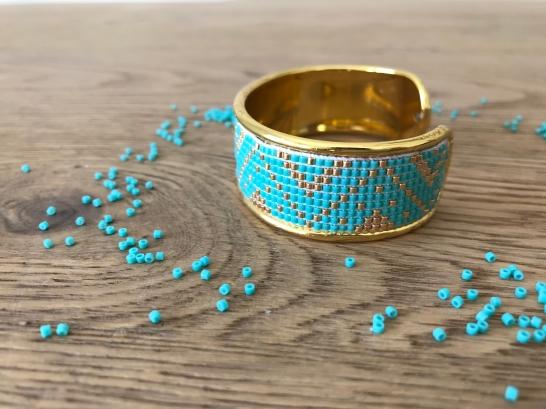 bracelet manchette tissage miyuki metier tisser perles sun enterprises la droguerie perlesandco vieille morue 7