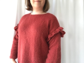 pull rouge facile phildar phil light volant manche vieille morue 12