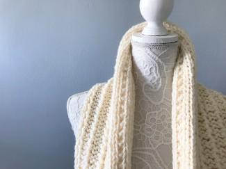 Bmade snood xxl tricot milk drops big merinos côtes cordelées knit vieille morue 2
