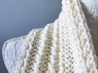 Bmade snood xxl tricot milk drops big merinos côtes cordelées knit vieille morue 3