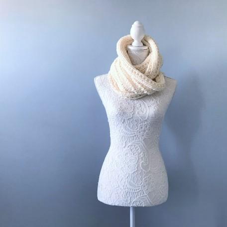 Bmade snood xxl tricot milk drops big merinos côtes cordelées knit vieille morue 4