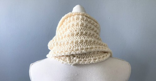 Bmade snood xxl tricot milk drops big merinos côtes cordelées knit vieille morue 6