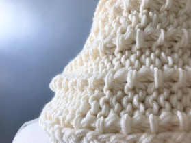 Bmade snood xxl tricot milk drops big merinos côtes cordelées knit vieille morue 7