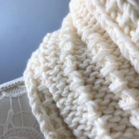 Bmade snood xxl tricot milk drops big merinos côtes cordelées knit vieille morue 8