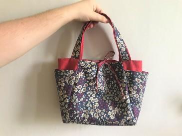 cabas frou frou paris liberty fleur couture tissus sac encours vieille morue 1