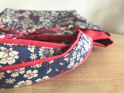 cabas frou frou paris liberty fleur couture tissus sac encours vieille morue 5